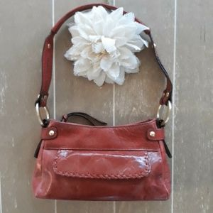 Franklin Covey | Red Leather Shoulderbag Purse